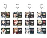 501st JOINT FIGHTER WING STRIKE WITCHES ROAD to BERLIN Acrylic Keychain 12 Pieces Set