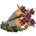 1/150 Plastic Model Soyuz Rocket & Transport Train